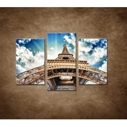 Obrazy na stenu - Eifelova veža zdola - 3dielny 75x50cm