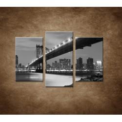 Obrazy na stenu - Manhattanský most - 3dielny 75x50cm