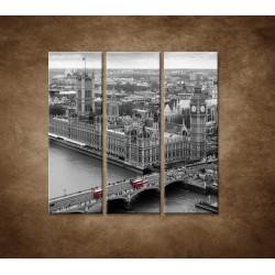 Obrazy na stenu - Čiernobiely Londýn - 3dielny 90x90cm