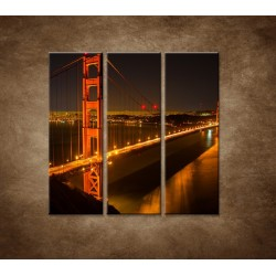 Obrazy na stenu - Golden Gate Bridge - 3dielny 90x90cm
