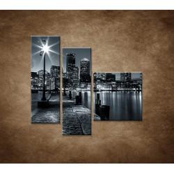 Obrazy na stenu - Boston - 3dielny 110x90cm