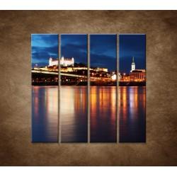 Obrazy na stenu - Bratislava - 4dielny 120x120cm