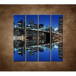 Obrazy na stenu - Brooklyn  - 4dielny 120x120cm