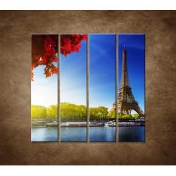 Obrazy na stenu - Eifelova veža - 4dielny 120x120cm