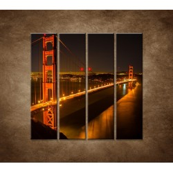 Obrazy na stenu - Golden Gate Bridge - 4dielny 120x120cm
