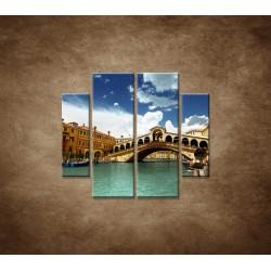 Obrazy na stenu - Benátky - 4dielny 100x90cm