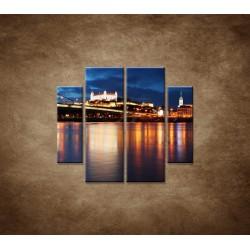 Obrazy na stenu - Bratislava - 4dielny 100x90cm