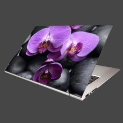 Nálepka na notebook - Ružové orchidey