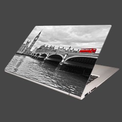 Nálepka na notebook - Červený autobus