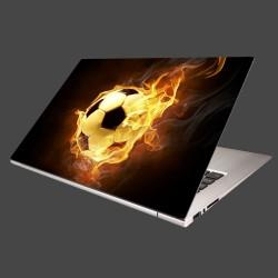 Nálepka na notebook - Horiaca lopta