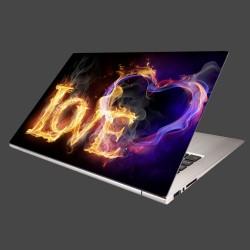 Nálepka na notebook - Horiace srdce