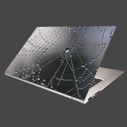 Nálepka na notebook - Makro - pavučina