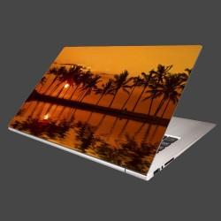 Nálepka na notebook - Červené zore nad morom