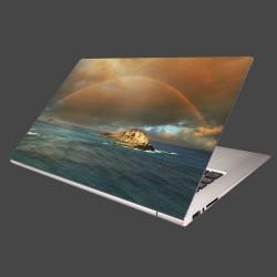 Nálepka na notebook - Dúha nad morom
