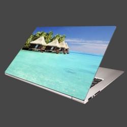 Nálepka na notebook - Chatky na mori