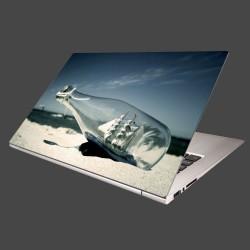 Nálepka na notebook - Loď vo fľaši