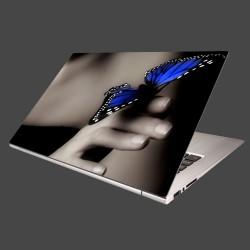 Nálepka na notebook - Modrý motýľ