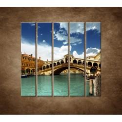 Obrazy na stenu - Benátky - 5dielny 100x100cm