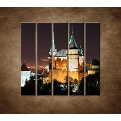 Obrazy na stenu - Bojnický zámok - 5dielny 100x100cm