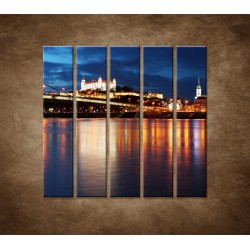 Obrazy na stenu - Bratislava - 5dielny 100x100cm