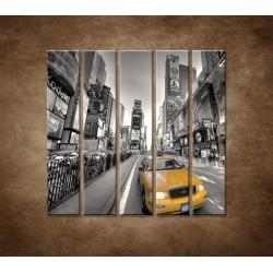 Obrazy na stenu - Žltý taxík - 5dielny 100x100cm