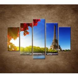 Obrazy na stenu - Eifelova veža - 5dielny 150x100cm