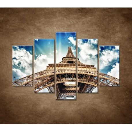 Obrazy na stenu - Eifelova veža zdola - 5dielny 150x100cm