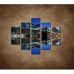 Obrazy na stenu - Brooklyn - 5dielny 100x80cm