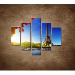 Obrazy na stenu - Eifelova veža - 5dielny 100x80cm