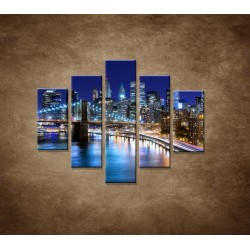 Obrazy na stenu - New York - 5dielny 100x80cm