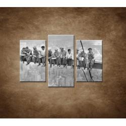 Obrazy na stenu - Robotníci na traverze - 3dielny 75x50cm