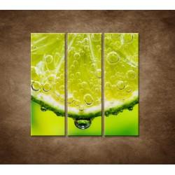 Obrazy na stenu - Plátok citróna - 3dielny 90x90cm
