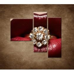 Obrazy na stenu - Diamant v ústach - 3dielny 110x90cm