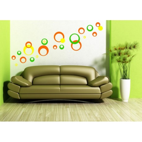 Nálepky na stenu - Kruhy moderné