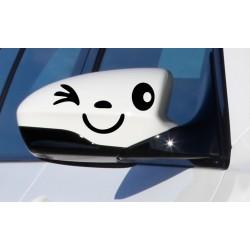 Nálepka na auto - Oči - reflexné