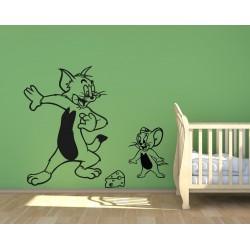 Nálepka na stenu - Tom a Jerry
