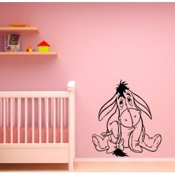 Nálepka na stenu - Smutný somárik