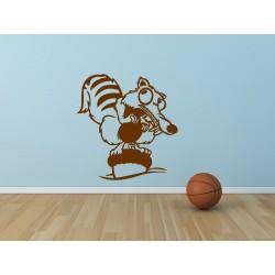 Nálepka na stenu - Veverička SCRAT
