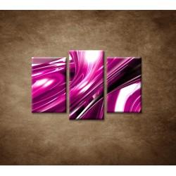 Obrazy na stenu - 3D fialová abstrakcia - 3dielny 75x50cm