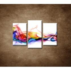 Obrazy na stenu - Farebný dym - 3dielny 75x50cm