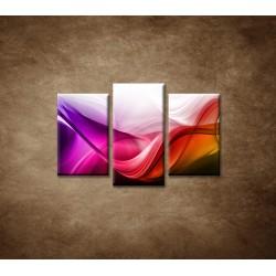 Obrazy na stenu - Farebná vlna - 3dielny 75x50cm