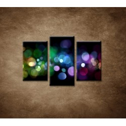 Obrazy na stenu - Abstraktné svetlá - 3dielny 75x50cm