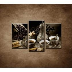 Obrazy na stenu - Kanvica kávy - 3dielny 75x50cm