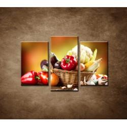 Obrazy na stenu - Zelenina - 3dielny 75x50cm