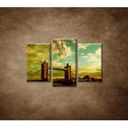 Obrazy na stenu - Londýn - Tower Bridge - 3dielny 75x50cm