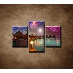 Obrazy na stenu - Oslavy na ostrove - 3dielny 75x50cm