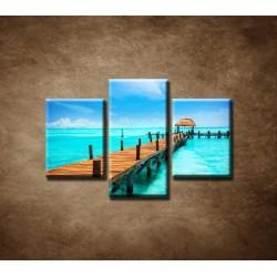 Obrazy na stenu - Mólo - 3dielny 75x50cm