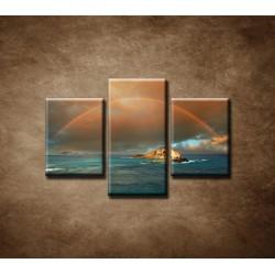 Obrazy na stenu - Dúha nad morom - 3dielny 75x50cm