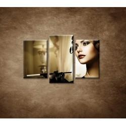 Obrazy na stenu - Žena s cigaretou - 3dielny 75x50cm