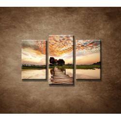 Obrazy na stenu - Západ slnka nad riekou - 3dielny 75x50cm